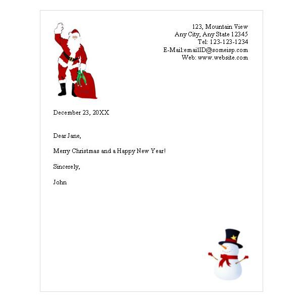 Letters From Santa Claus Template  Templates Printable