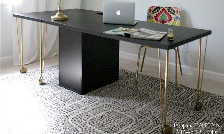 Super easy ikea desk hack!! amazing look for cheap! domestications