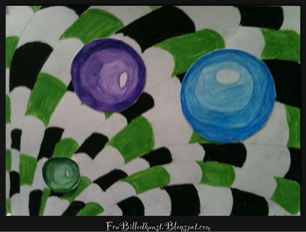 NY ADRESSE - NEW ADDRESS: www.FruBilledkunst.dk    Som ekstraarbejde under op art projektet, har 4. klasse selv valgt et op art billede, d...