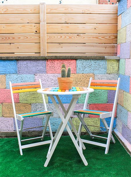 add some colour to your patio furniture with rust oleum 2x spray paint and refresh - Garden Furniture Colour Ideas