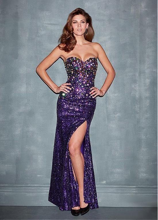 Fabulous Sequin Lace Sweetheart Neckline Floor-length Sheath Evening Dress