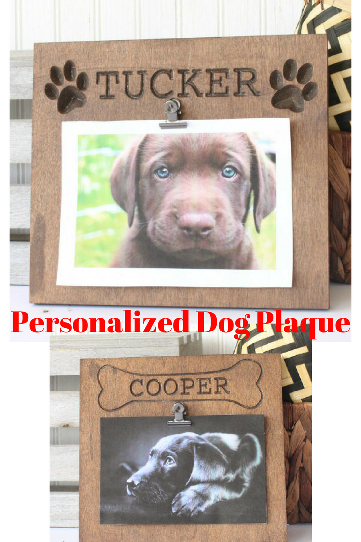 personalized dog plaque dog frame dog gift gifts for dog owner