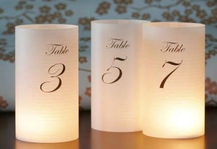 LOVE these for table numbers!!