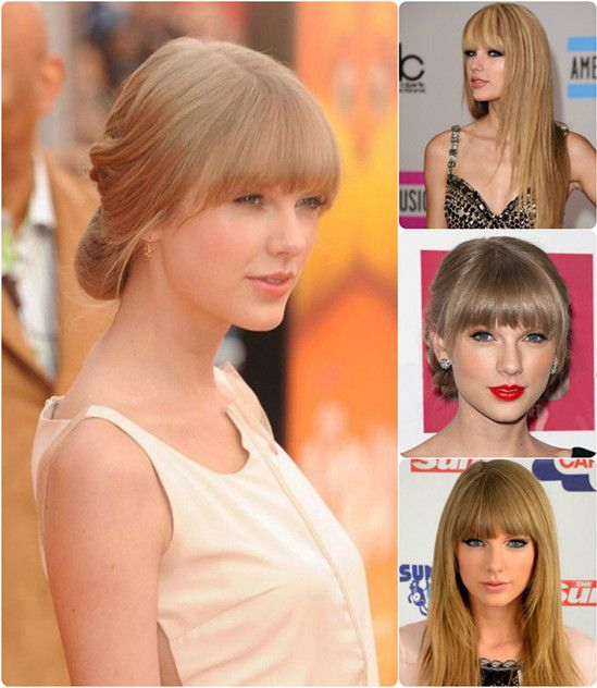 8 Best And Glamorous Hairstyles For Round Face Cut Bangs Blunt
