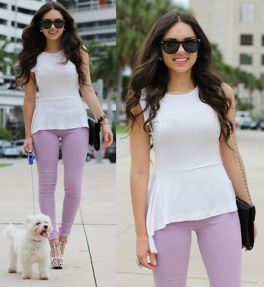 For work // Lamb Lavender Jeans, Pink And Pepper Shoes, Jill Milan Bag, Furor Moda Sunglasses, Romwe Top
