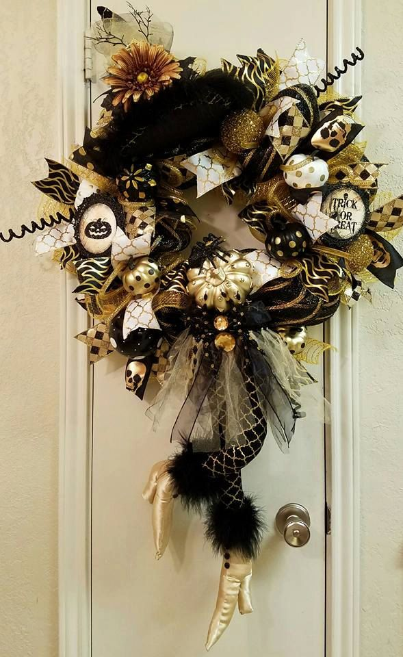 Witch Wreath, Halloween Wreath, Halloween Decor, Witch Decor,Door - witch decorations