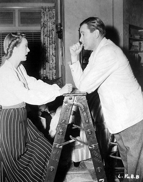 Bette Davis and Herbert Marshall on the set of The Letter 1940