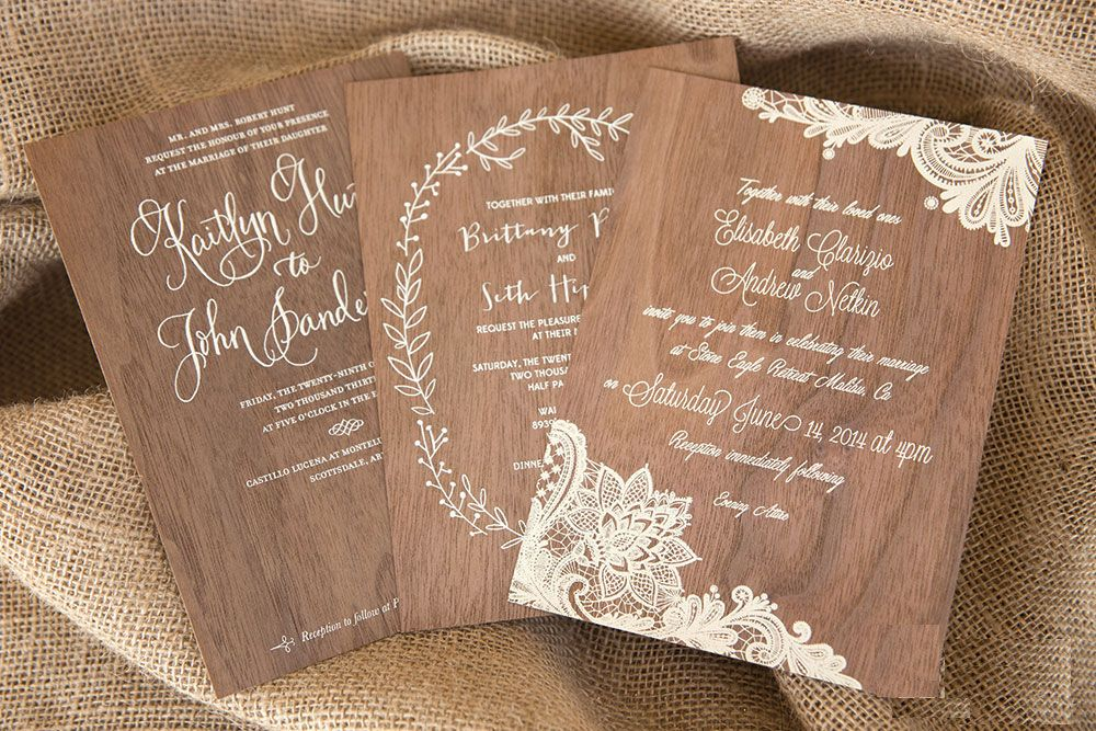 The Next Big Trends In Wedding Stationery Wooden Wedding Invitations Wood Wedding Invitations Wedding Invitations Uk