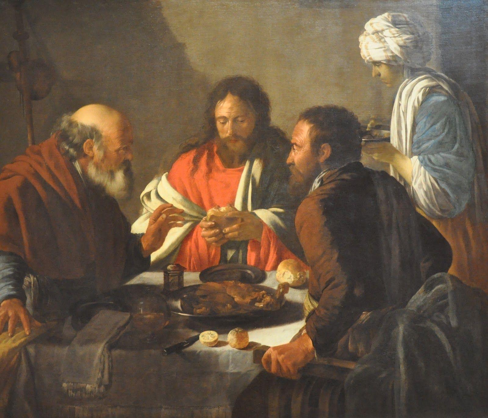 Supper Emmaus 1616 Hendrick Terbrugghen. Toledo