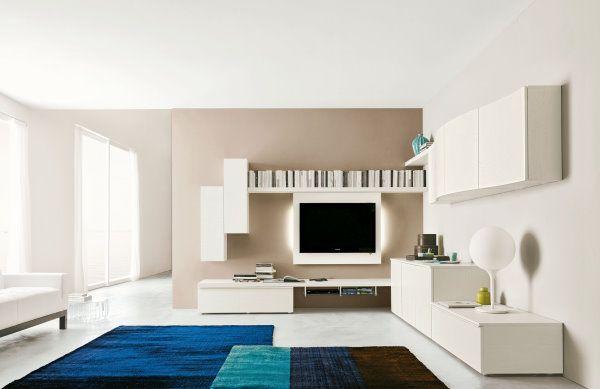 pareti tortora e mobili bianchi - cerca con google | arredamento d ... - Soggiorno Angolare Moderno