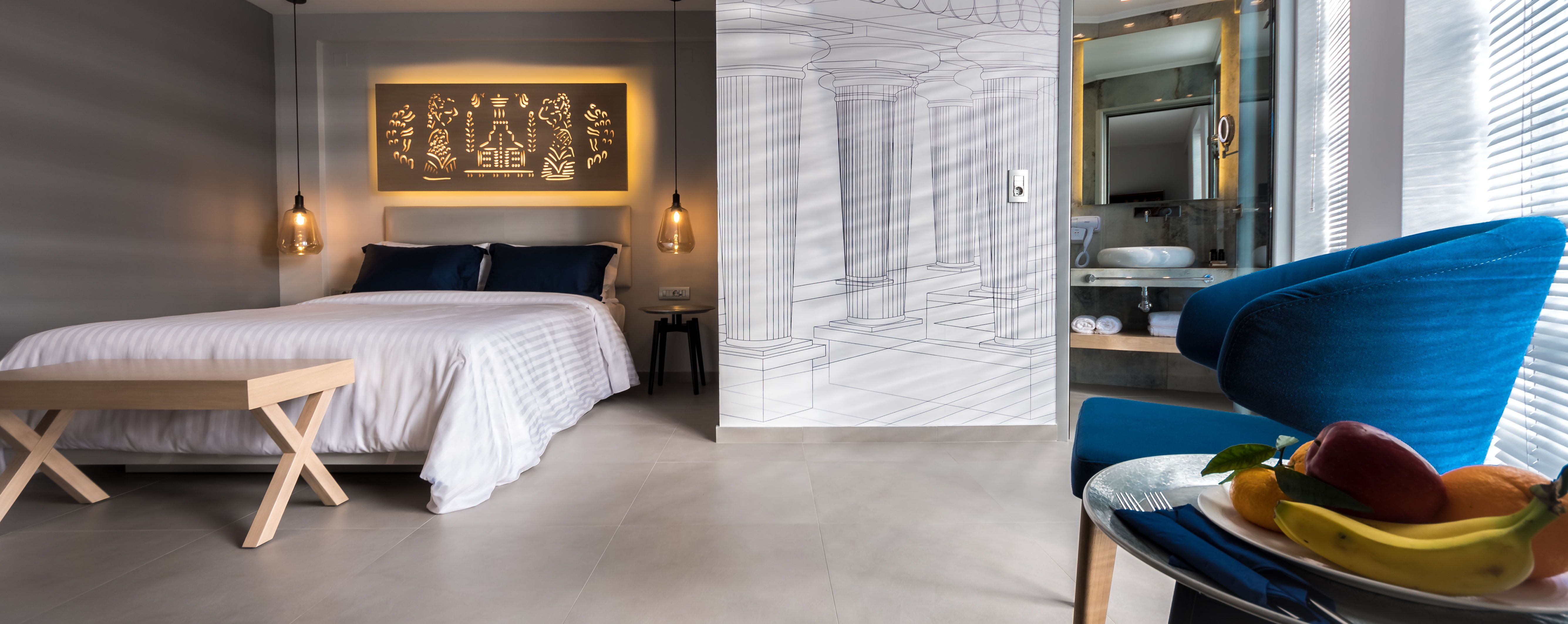 Why Have Table Lamps When You Can Suspend Pendant Lights Over Your Bedside Tables Leaving More Room For Books The Tv R Bedroom Images White Bedding Furniture