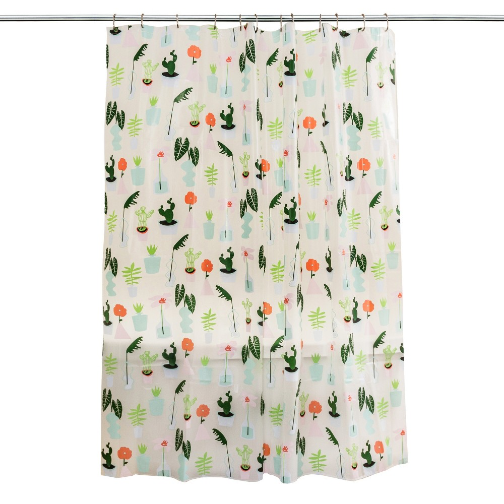 Plants Shower Curtain Green Room Essentials