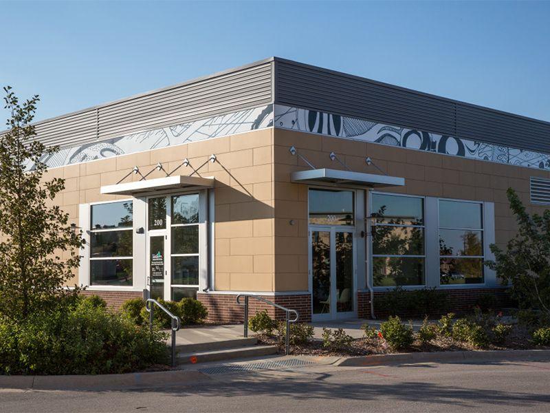 contemporary exterior, retail center
