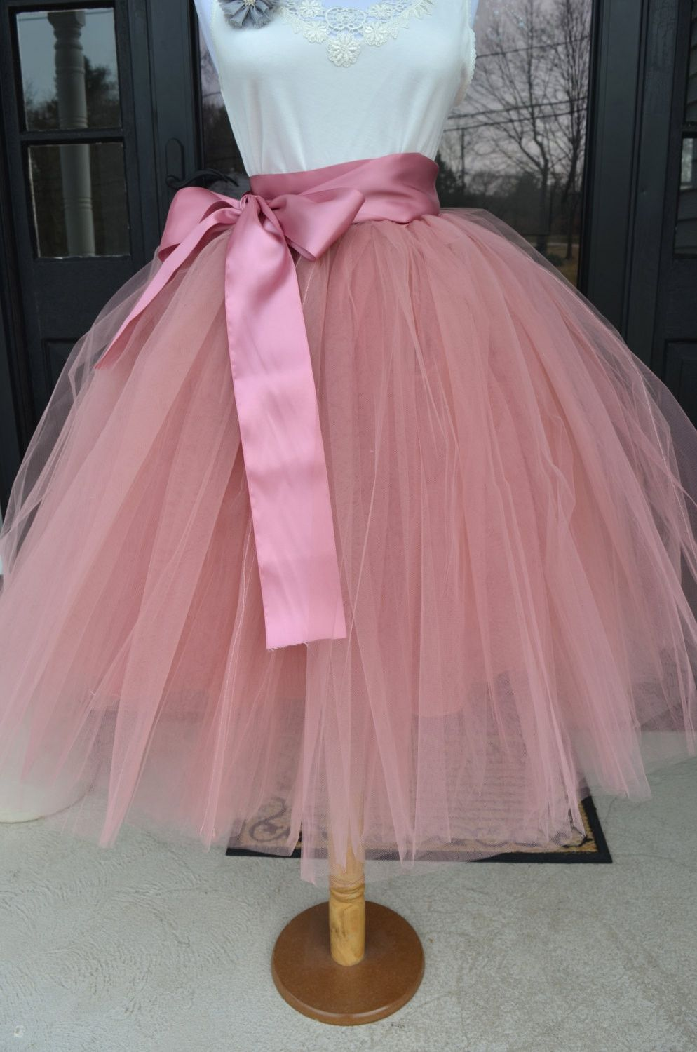856bc7cf41 Beautiful tulle skirt made with a pretty rose pink tulle in women's sizes  including plus sizes. Skirt is made of 6 layers of the highest quality tulle  and ...