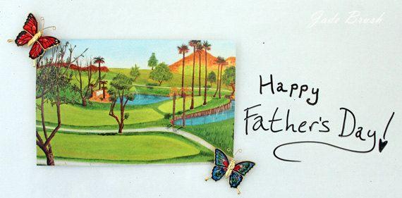 Hole 14, Golf Course Landscape 5X7 Cards: Set of 10 by jadebrushArt on Etsy