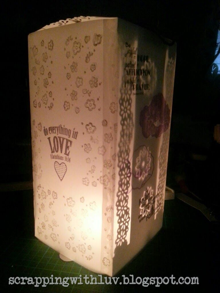 Scrapping with LUV: Scrappy Lantern for the very first time