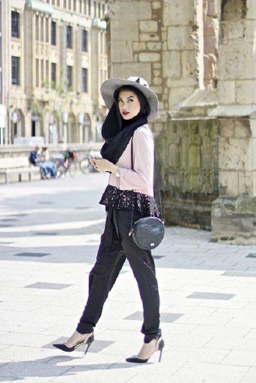 Latest Casual Wear Hijab Styles With Jean Tesett R Giyim Ve G Zellik Pinterest Casual Wear