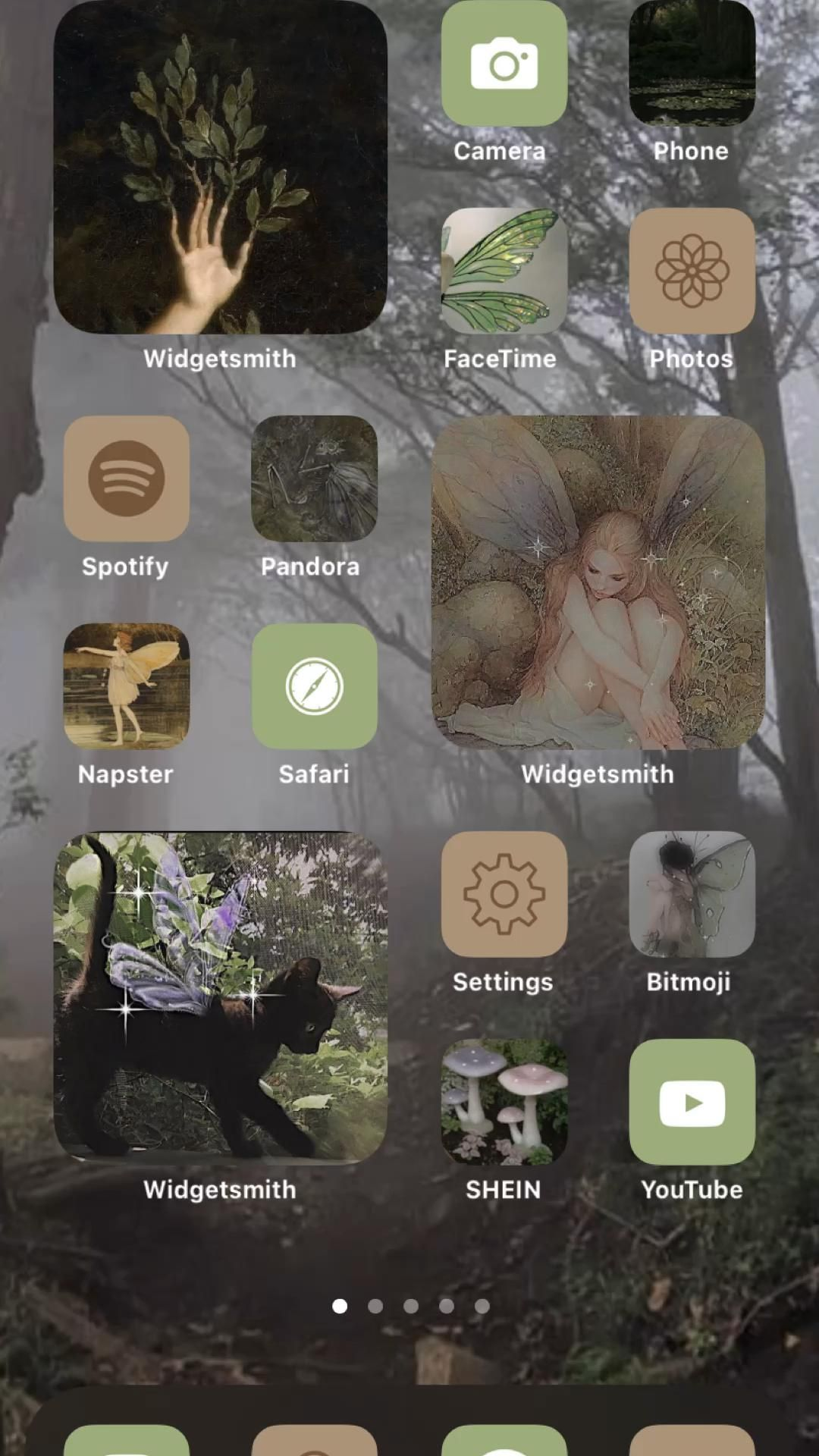 Fairy core iPhone layout