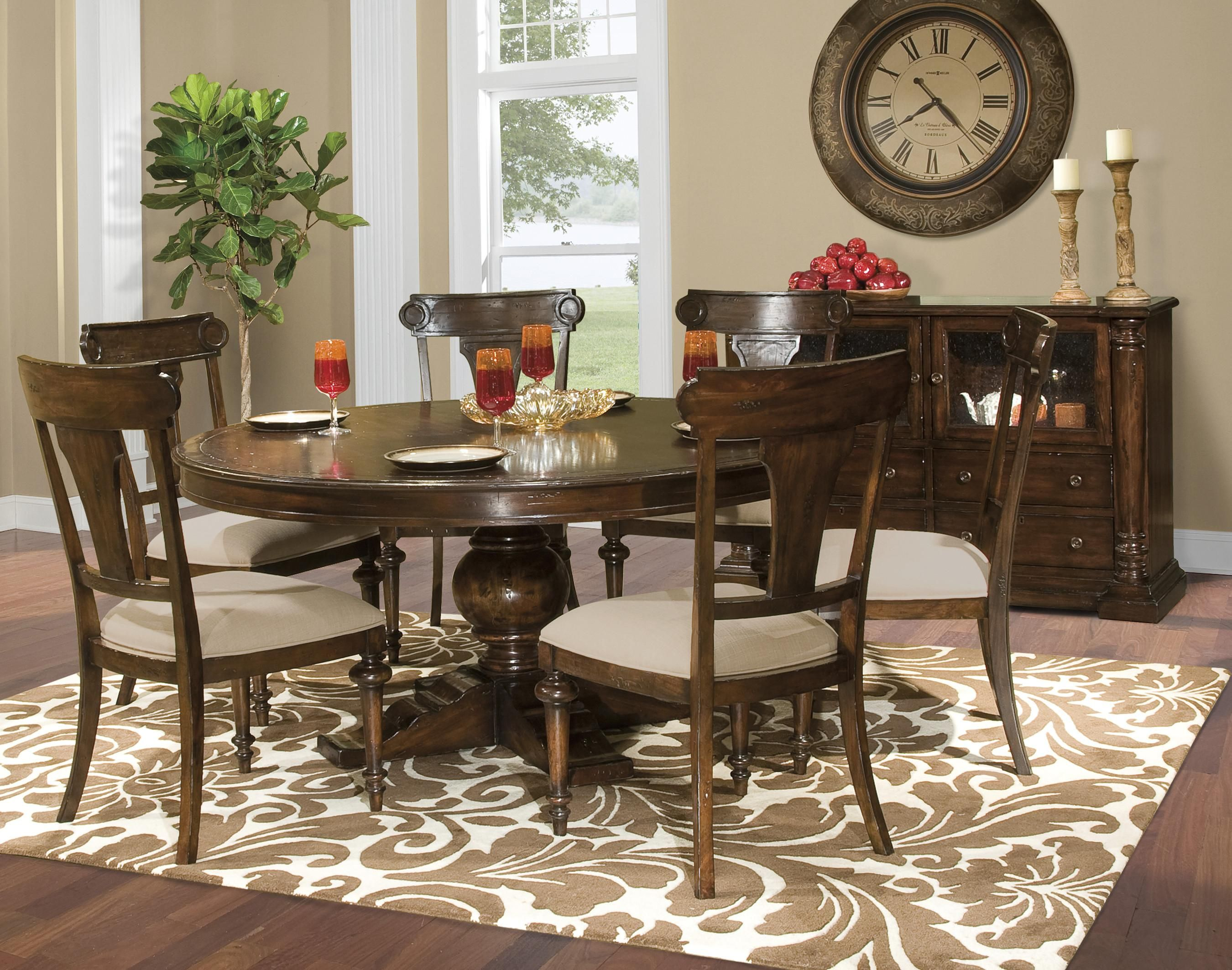 64 Quot Round Table Round Dining Room Sets Formal Dining