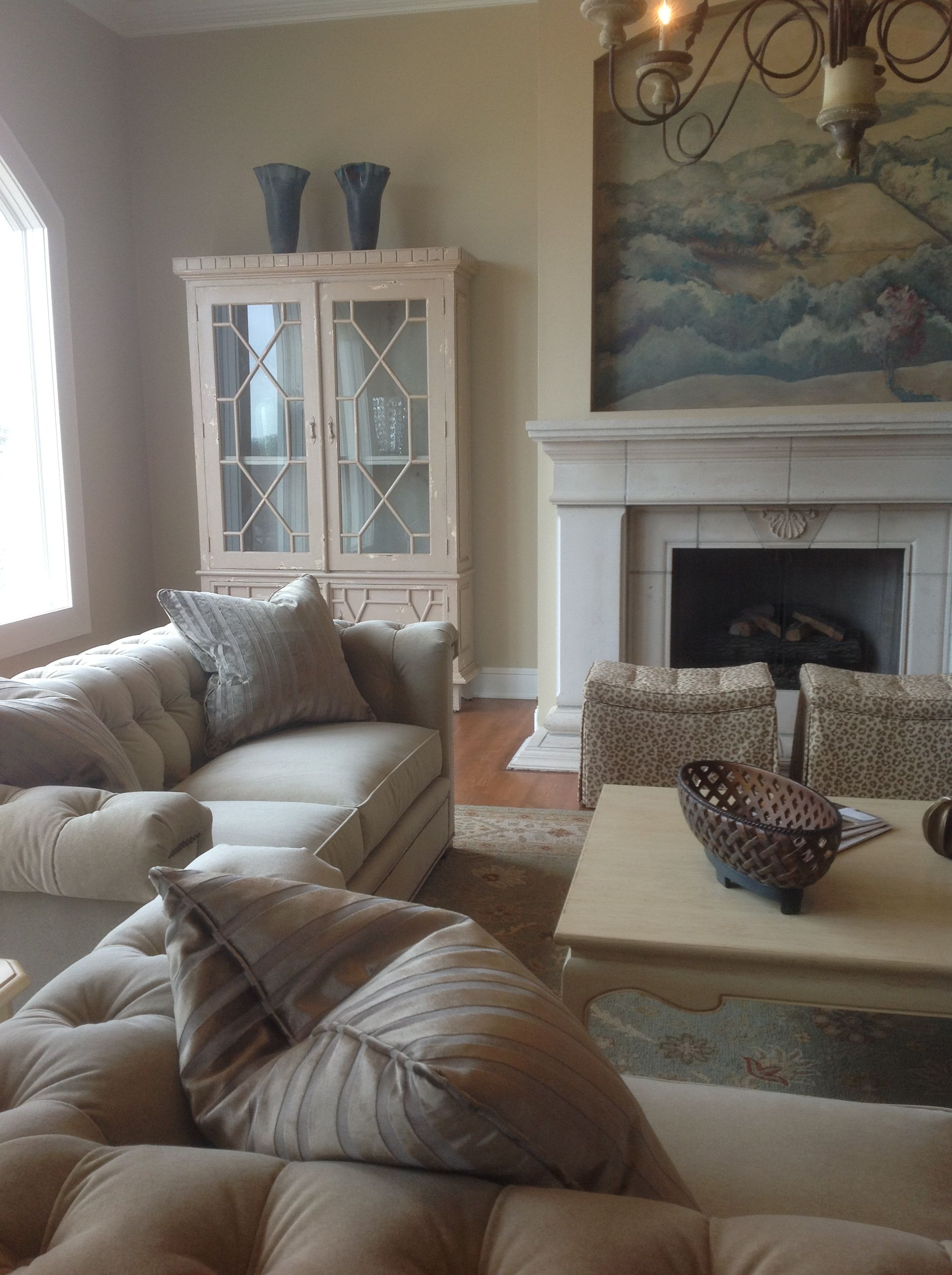 Living area using Hickory Chair sofas and coffee table