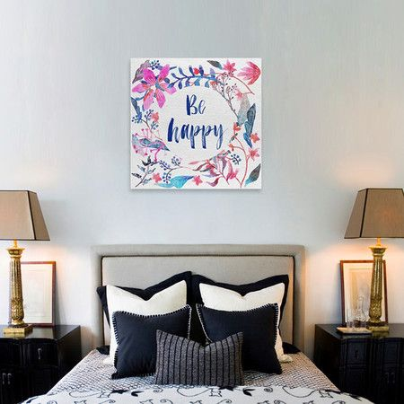 Colorful Happy Canvas Print, Oliver Gal
