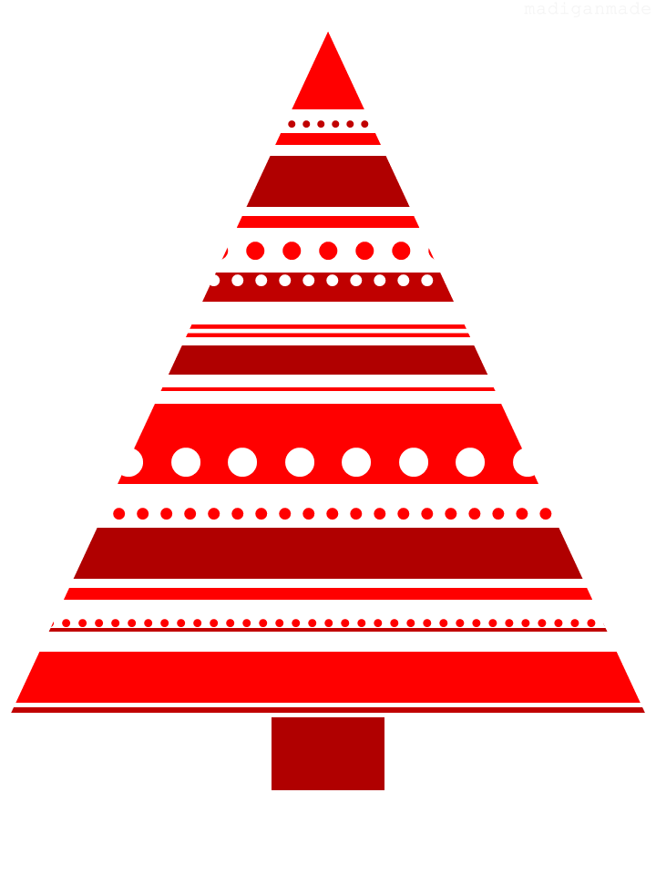 Free Red And White Tree Printable  Free Christmas Tree Templates
