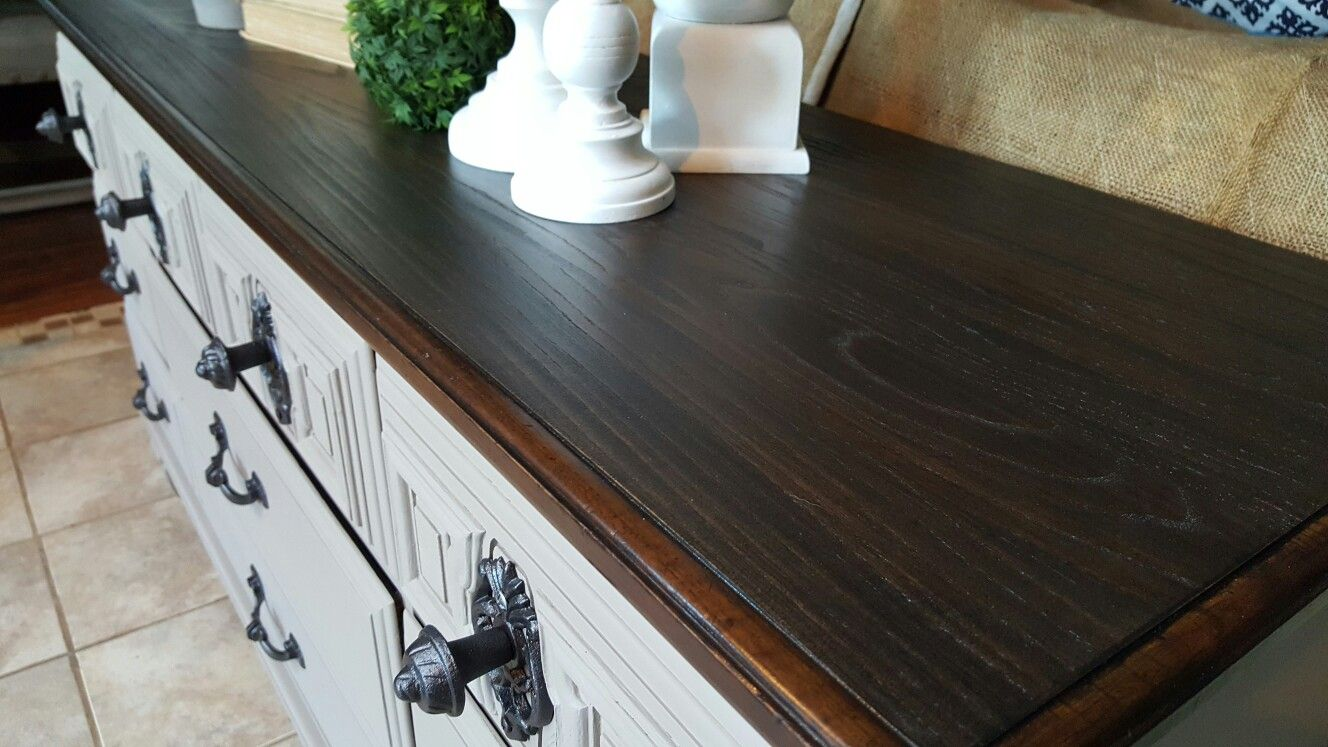 Beautiful Owosso Vintage Dresser Painted By @WhyNotRedesign In Algonquin By  @fusionmineralpaint And Kona Varathane
