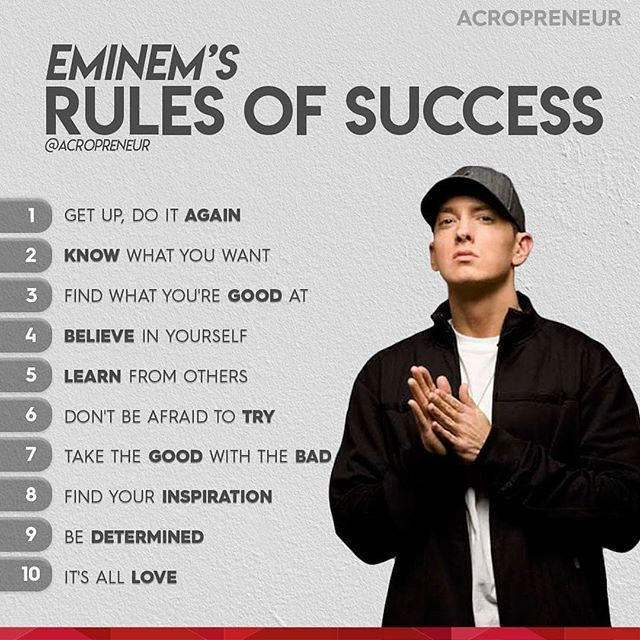 Regrann From Acropreneur The Rap God Aka Eminem Eminem Aka Slim Shady He Came Up From Humble Beginnings And H Eminem Lyrics Eminem Quotes Rapper Quotes