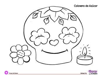 Coloring Page Dia De Los Muertos Day Of The Dead Calavera