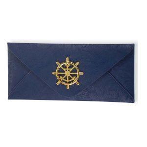 Sealife Medallion Envelope Clutch - Navy