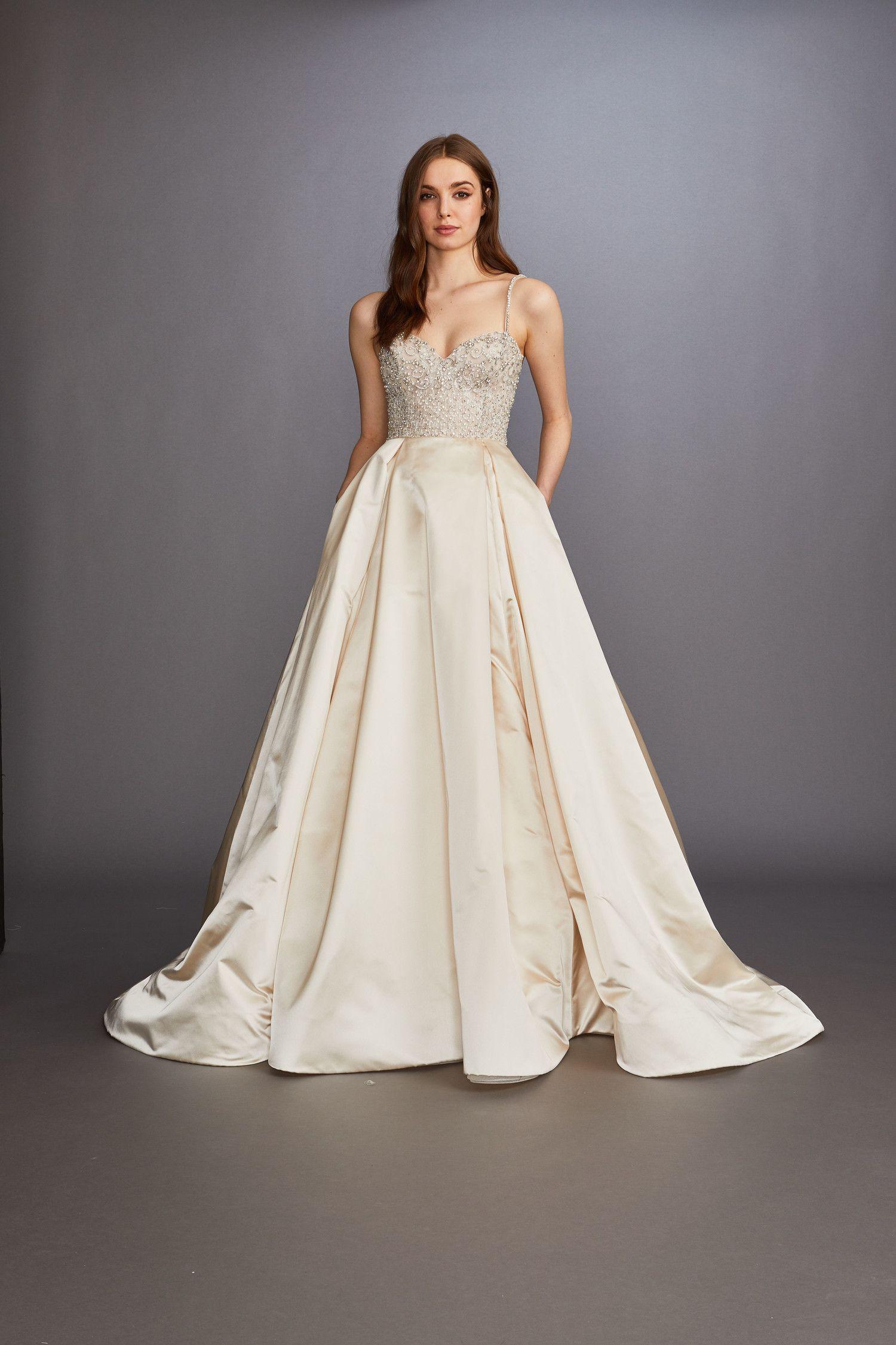 Wedding Dress By Lazaro Wedding Dresses Wedding Dress With Pockets Wedding Dresses Satin