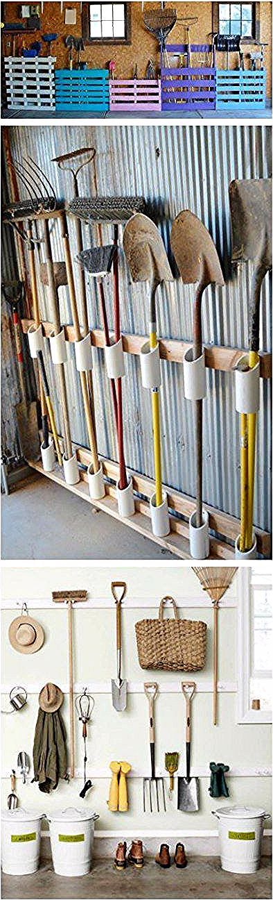 Garden Tool Storage Ideas Garage Organization Pvc Pipes 46 Ideasgarage