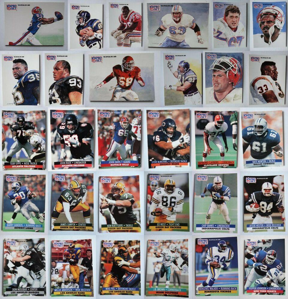 1991 pro set football cards complete your set u you pick