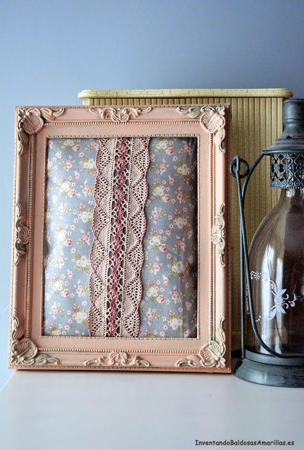Inventando el Finde 17: Cuadros hechos con tela | Marcos | Pinterest ...