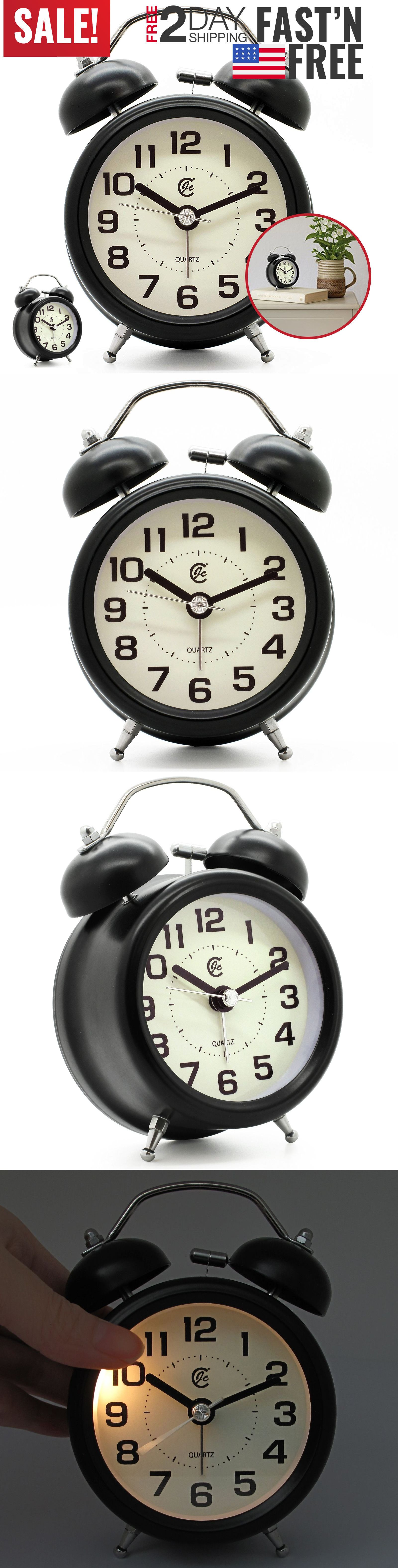 Analog Alarm Clock Vintage Classic Retro Bedroom Bedside Battery Operated Loud