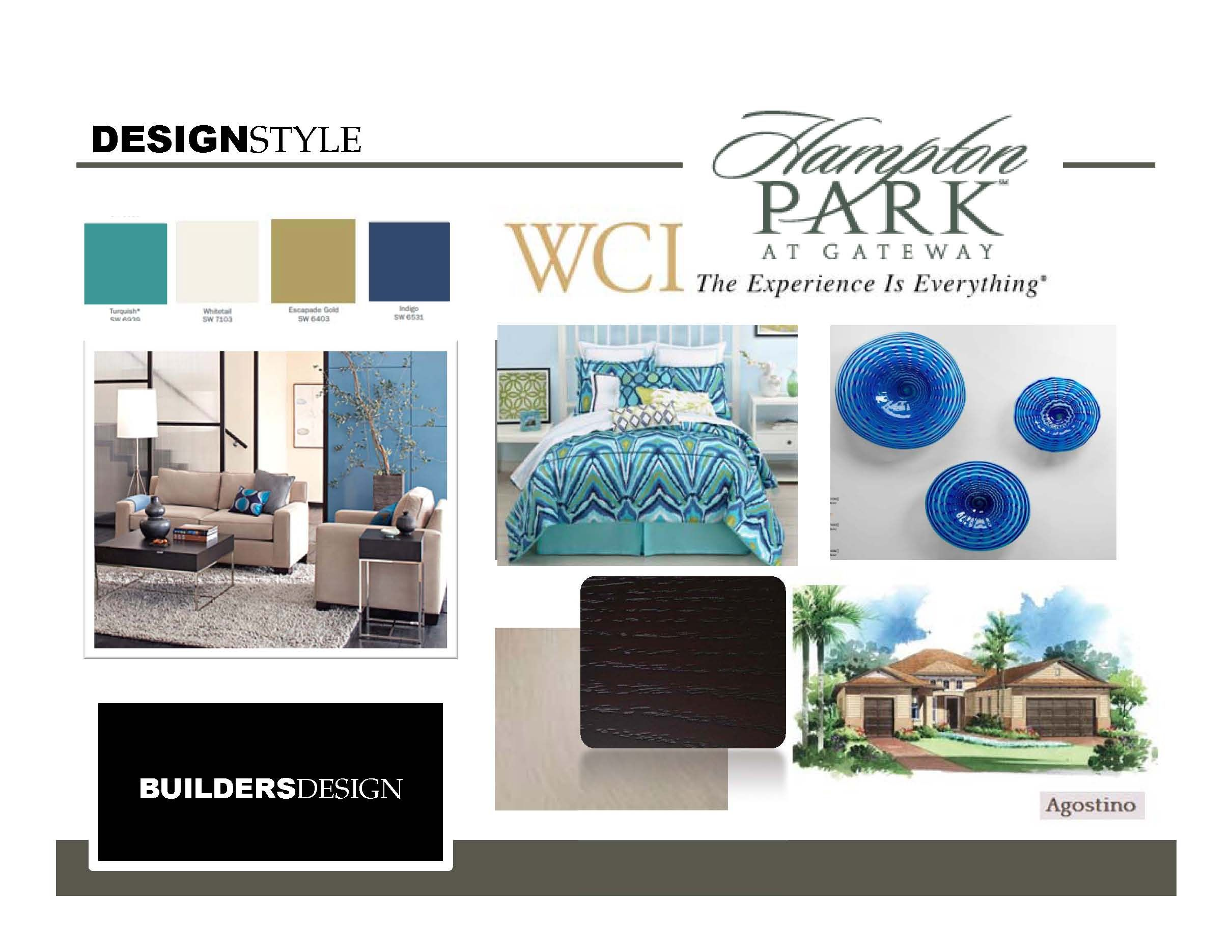 Mood board for the agostino model at wcius hampton park in ft myers