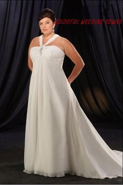 Plus Size Halter Wedding Gown Jorma Bridal Style Plus Size