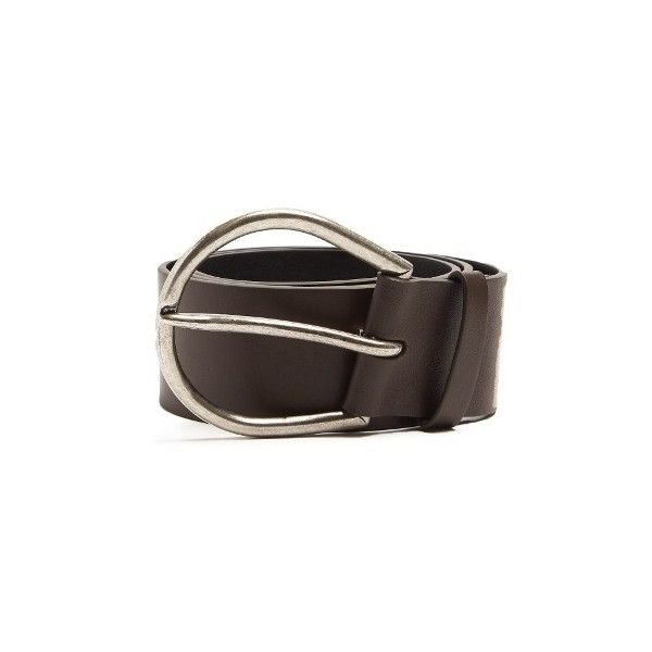 Maison Margiela Leather belt (5 425 ZAR) ❤ liked on Polyvore featuring accessories, belts, brown, chunky belt, buckle belt, maison margiela belt, brown belt and maison margiela