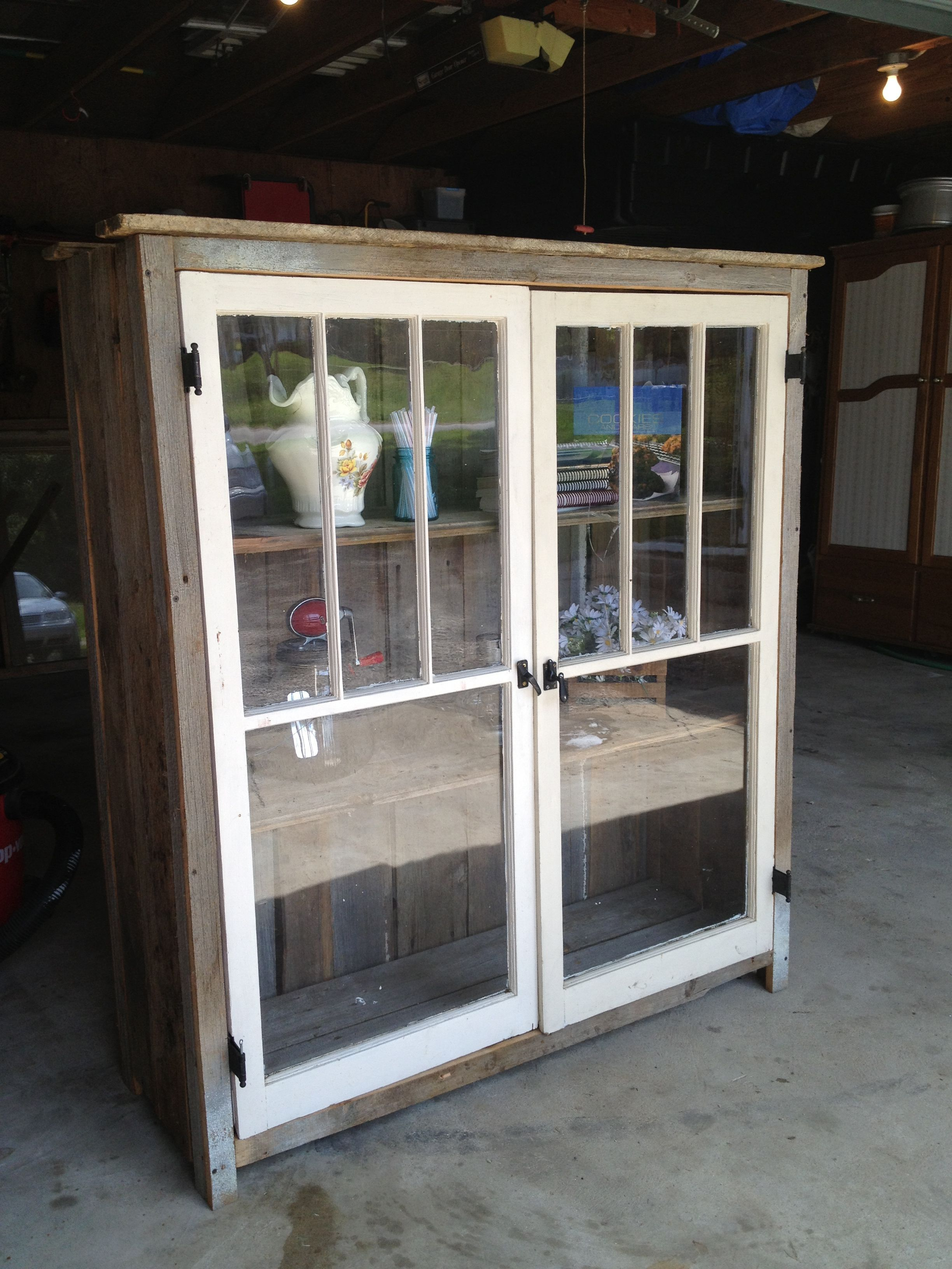 Reclaimed barn wood and windows | Interior Barn Doors | Pinterest