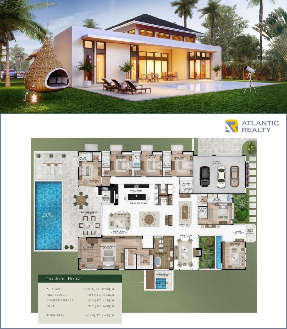 Oak Park New Miami Florida Beach Homes In 2020 Beach Floor Plans Luxury Homes Dream Houses Sims House Plans