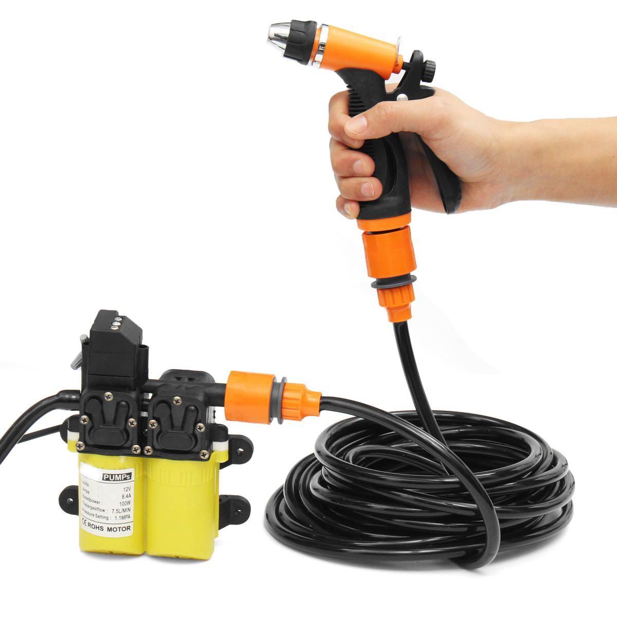 [US65.99] 12V High Pressure Car Electric Washer Water
