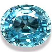 Blue Zircon - 4.42 carats at AJS Gems