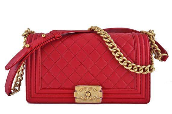 00364ad3d6f3 Nib Chanel Red Boy Classic Flap, Medium Caviar Bag Ghw | c h a n e l ...