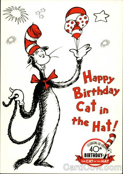 Cat In The Hat Happy Birthday