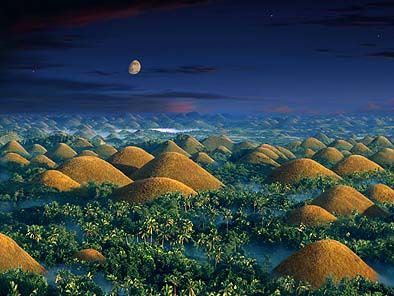 The Chocolate Hills. The hills are alive with…perfectly shaped mounds that are not man made.