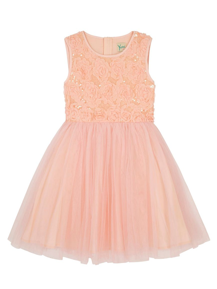 bdde1afeab22 Wedding ideas by colour: 9 Perfect Peach Flower Girl Dresses - Yumi Girl  Prom dress dress | CHWV