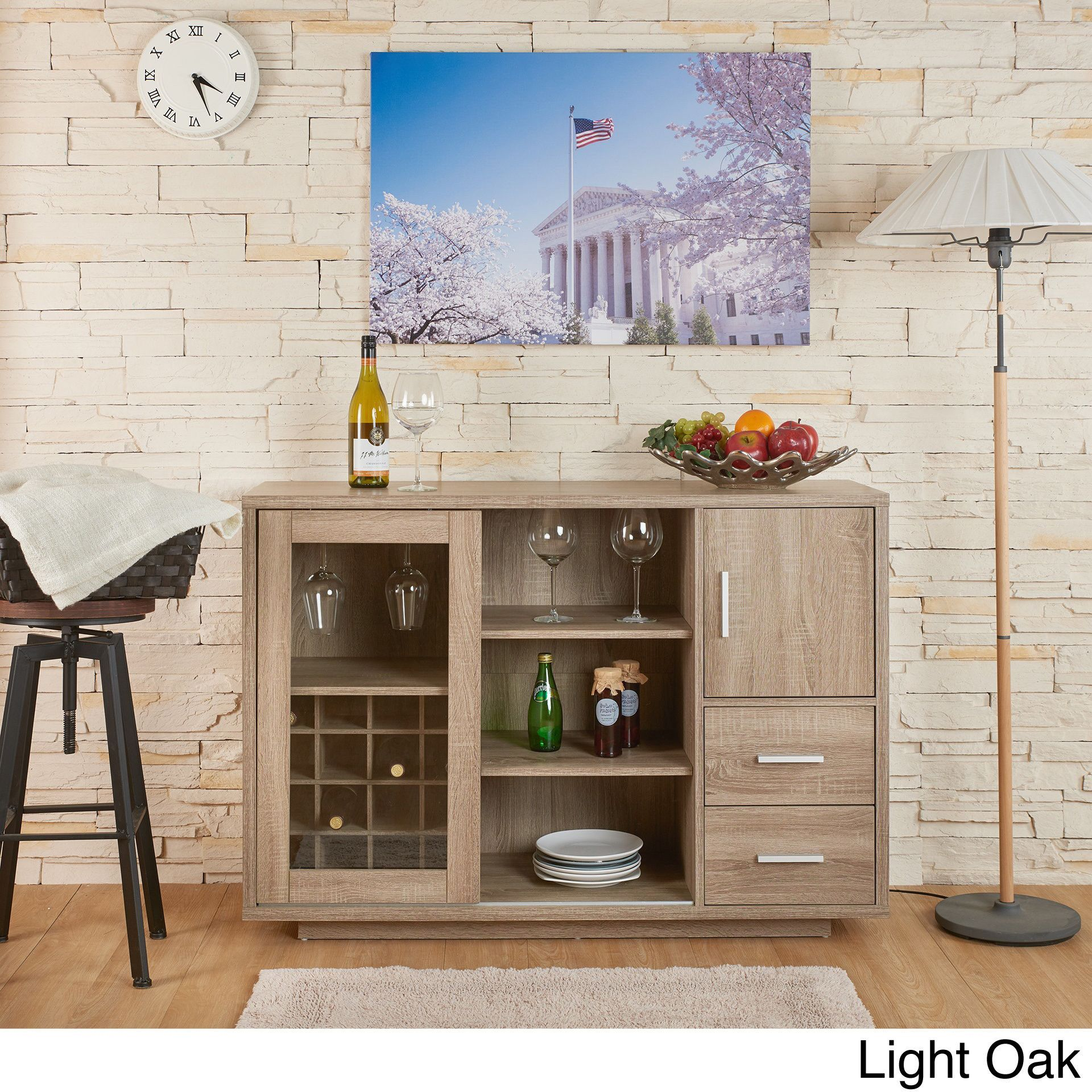Storage And Design Come Hand In Hand With This Spacious And Simple Dining Room Bar Furniture Inspiration