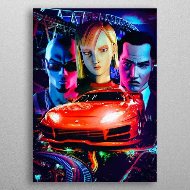 Midnight Club 2 retro gaming metalprint artwork | Displate thumbnail