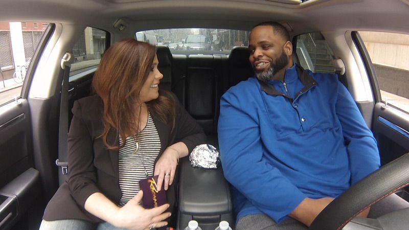 Daym Drops racked up millions of views on YouTube with his frank and hilarious burger reviews. Now, Rachael is joining him for a signature in-car review as he critiques a fried chicken sandwich. Watch to see how he likes it, and to find out what...