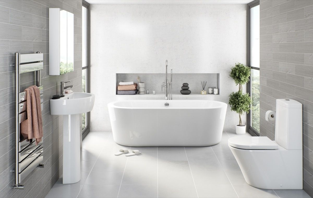 Light Grey Bathroom Floor Tiles | Bathroom Exclusiv | Pinterest ...